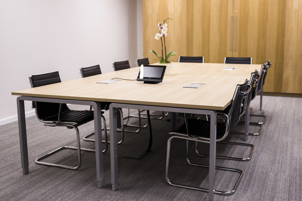 Ergo meeting table and Sky chairs