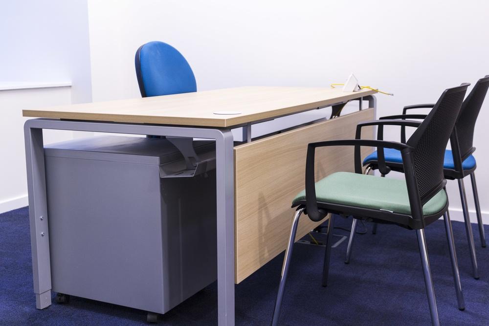 Ergo Desk with modesty panel