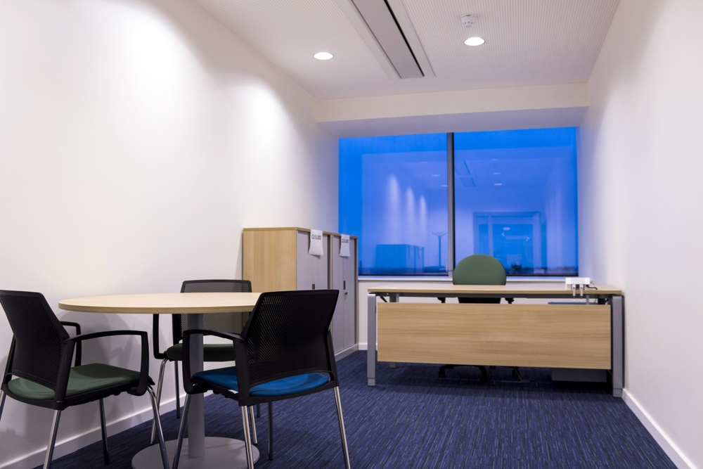 Ergo desk , meeting table and chairs