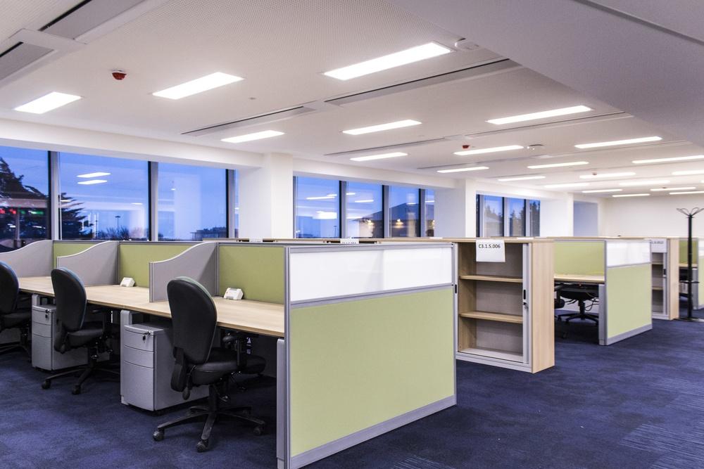 Ergo Desks and Fabric Screens