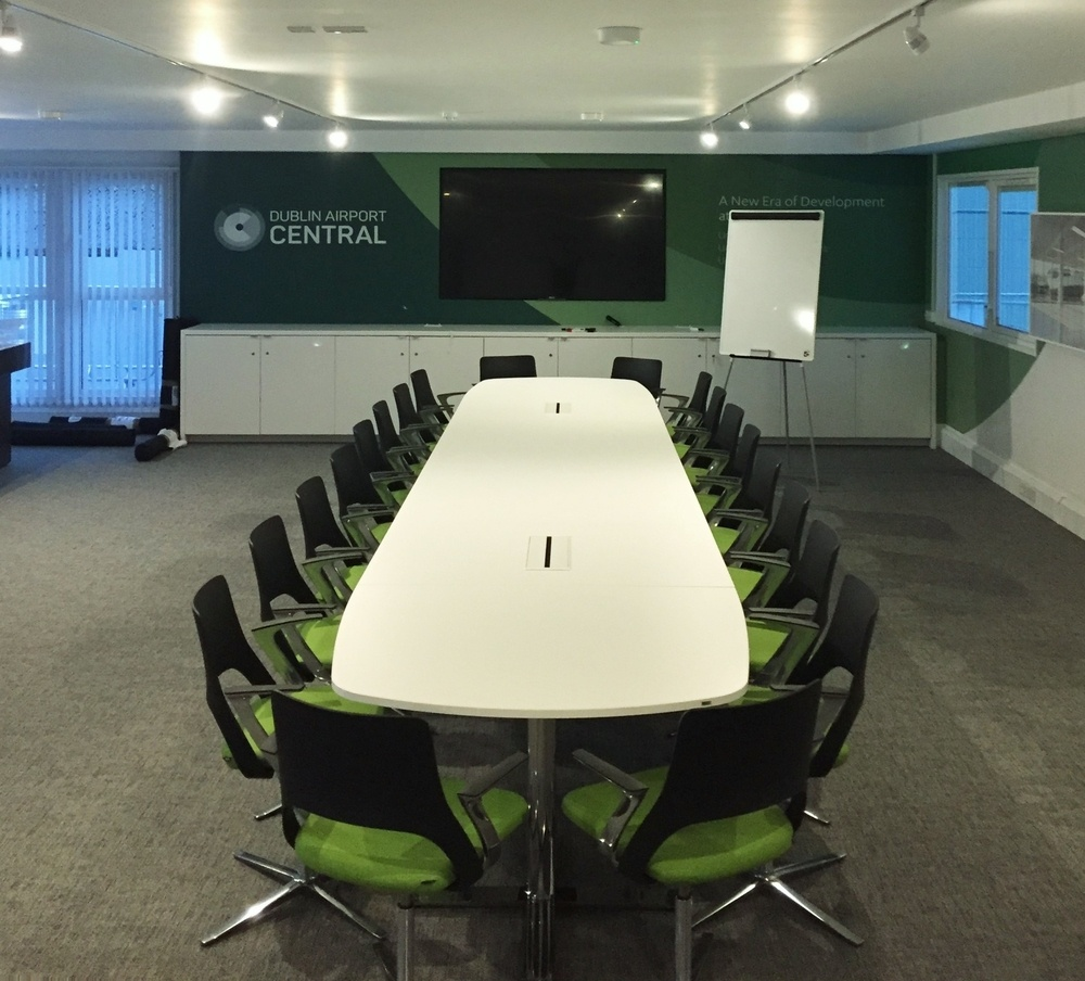 Oberon Meeting Table and Embrace Chairs